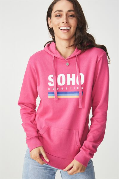 Delevingne Graphic Hoodie, SOHO SEDUCTION/ROSE VIOLET