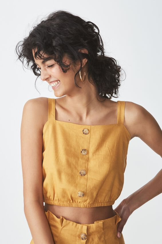 Reign Cami, SPRUCE YELLOW WITH BUTTON