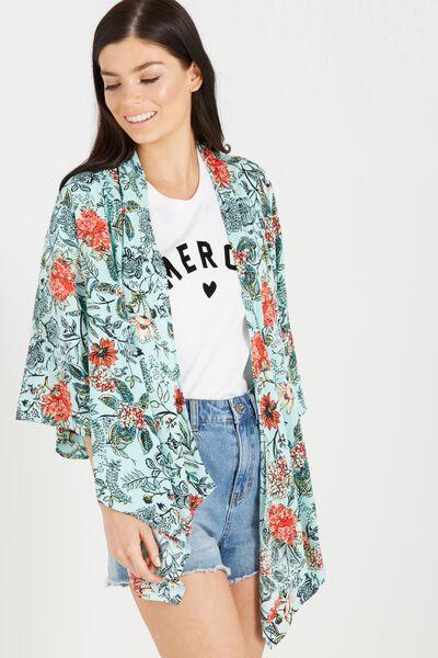 Leah Kimono, JADED FLORAL HUCCA