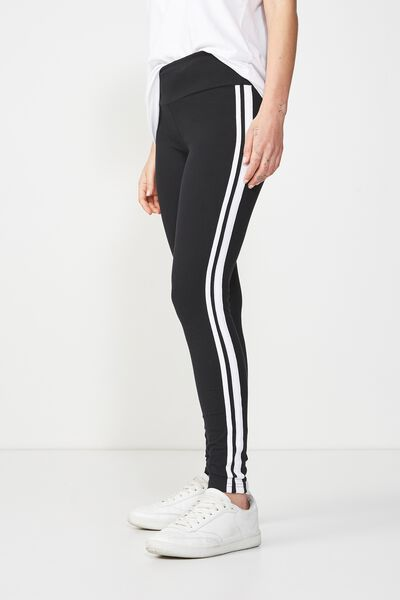 Tranquil Legging, BLACK/WHITE DOUBLE TIP