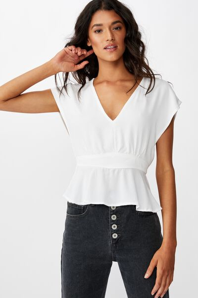 The Ultimate Tea Blouse, WHITE