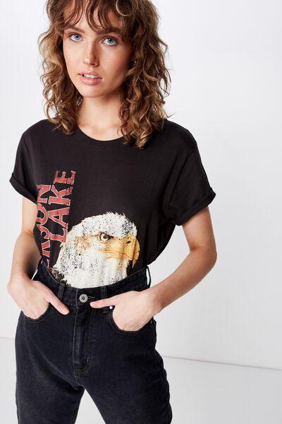 Classic Vintage T Shirt, JACKSON LAKE/WASHED BLACK