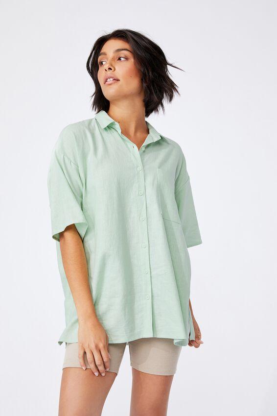 Dad Short Sleeve Shirt, SPRING MINT