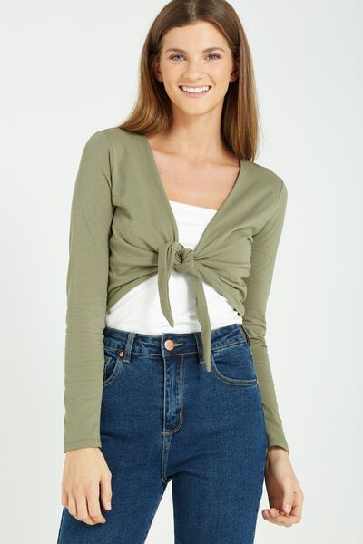 Mae Tie Front Top, SOOT