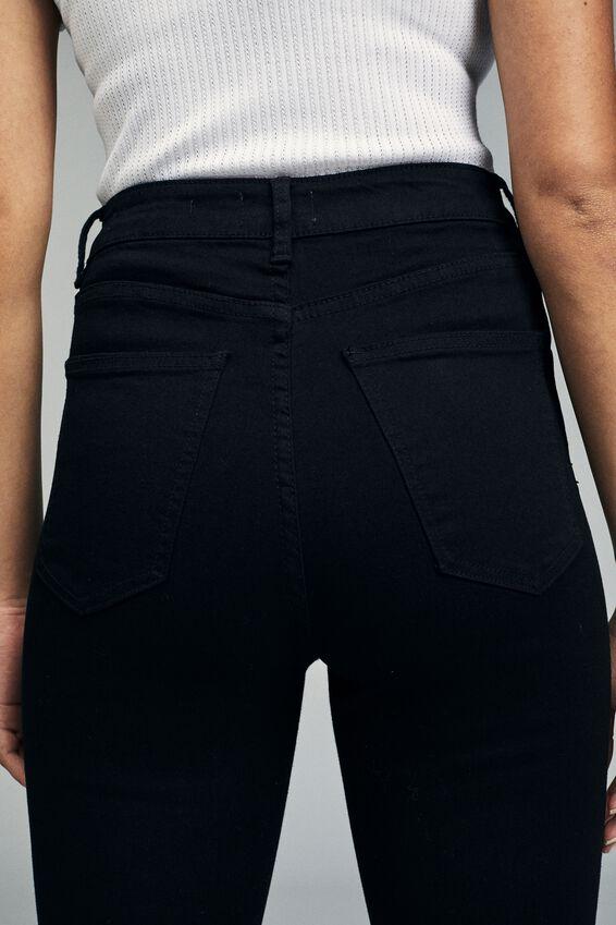 High Rise Cropped Skinny Jean, CORE BLACK