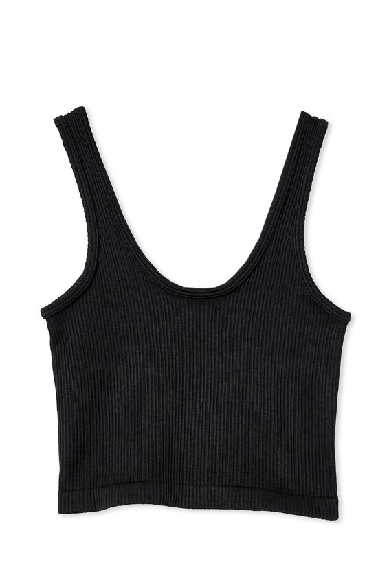 Stannie Seamfree Tank, BLACK
