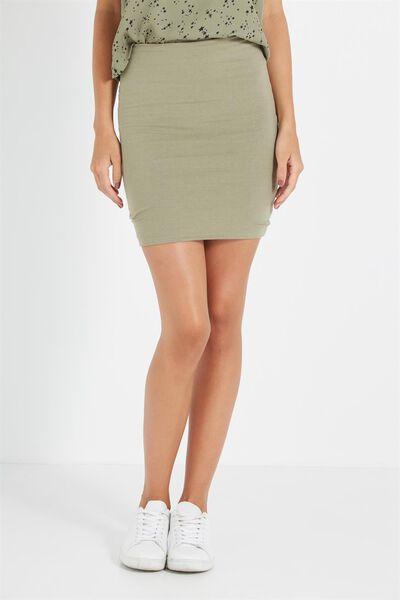 Mini Tube Skirt, SOOT