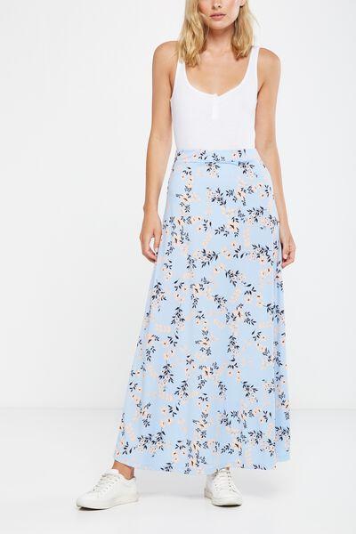 Fifi Drapey Maxi Skirt, SALLY FERN AEGAN BLUE