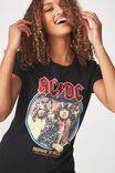 ACDC Premium T Shirt, LCN ACDC HIGHWAY SEQUIN/BLACK