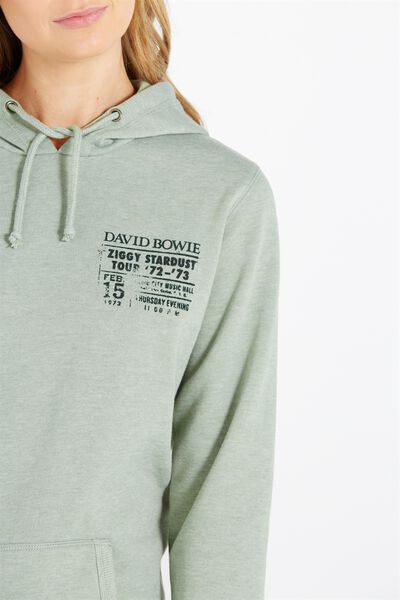 New Delevingne Graphic Hoodie 2, LCN BOWIE TOUR/SAGE GREEN MARLE