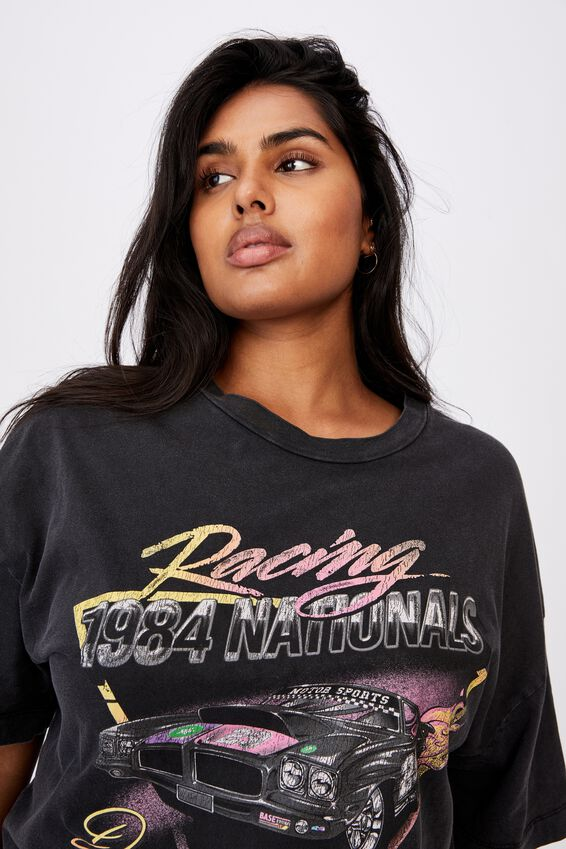 Curve Oversized Graphic Tee, RACING 1984/BLACK