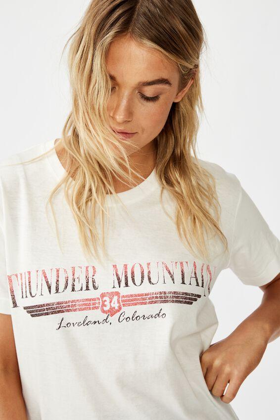 Classic Vintage Inspired T Shirt, THUNDER MOUNTAIN/GARDENIA