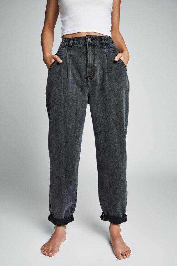 Slouch Jean, SUPER WASH BLACK