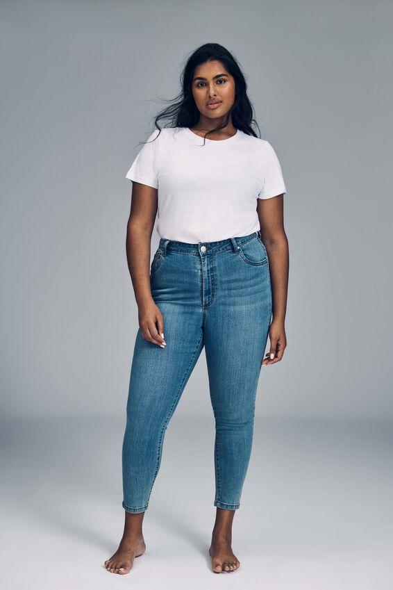 Curve Adriana High Crop Skinny Jean, BOSTON BLUE