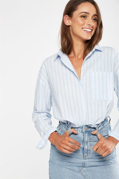 Monique Shirt, KATIE STRIPE