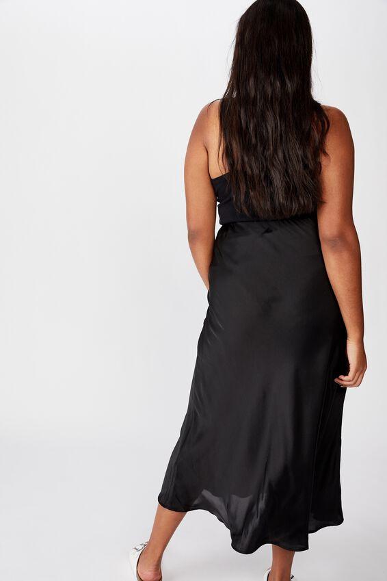 Curve Belle Midi Skirt, BLACK