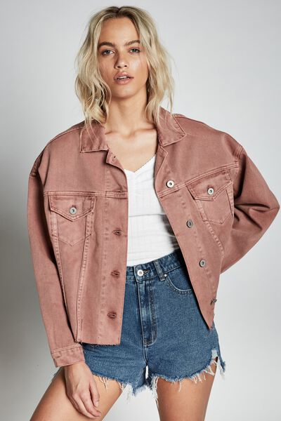 Os Denim Jacket, BURLWOOD