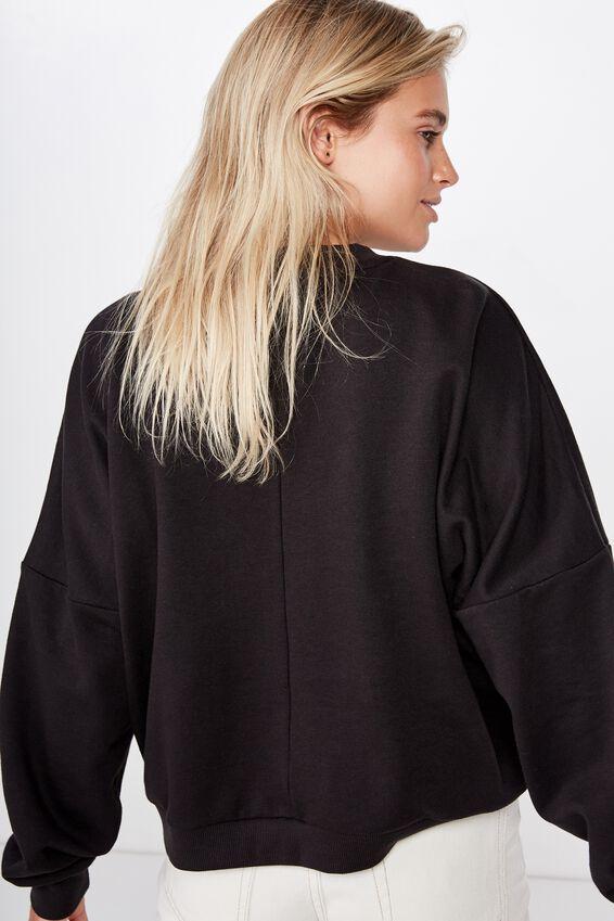 Harper Boxy Crew Graphic Fleece, LCN PER PINK FLOYD HERITAGE LOGO/BLACK