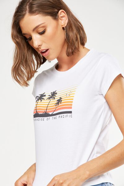 Tbar Friends Graphic Tee, PARADISE OF THE PACIFIC/WHITE