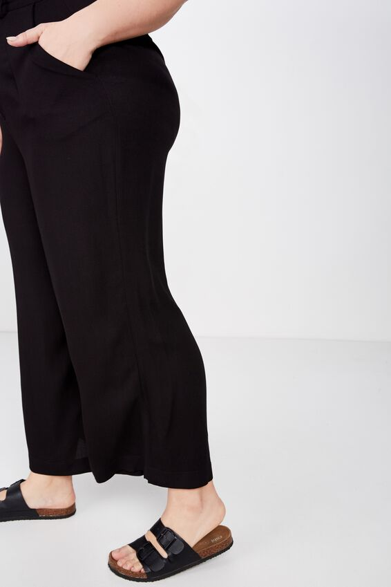 Curve Wide Drape Pant, SOFT BLACK