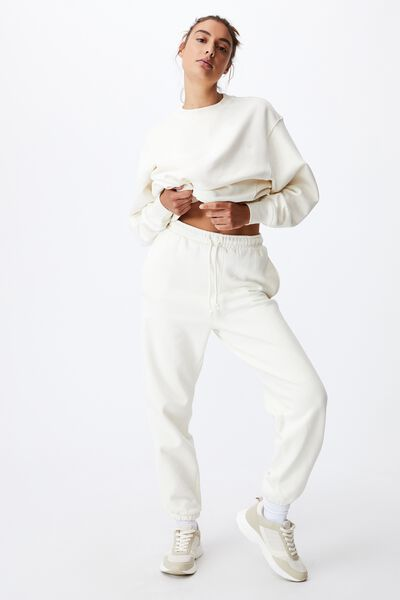 Throwback Track Pant, CHALK WHITE