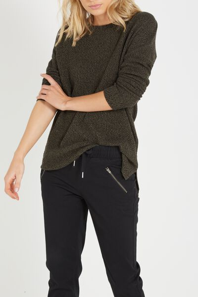 Archy 3 Pullover, KHAKI / BLACK TWIST