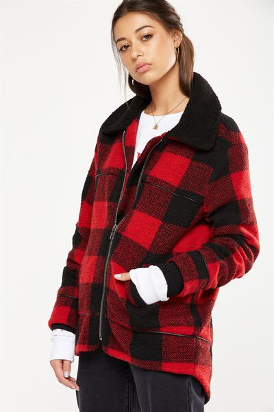 The Historic Coat, RED BUFFALO CHECK