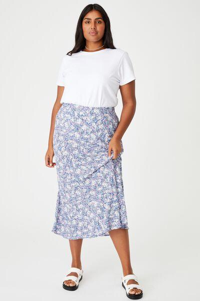 Curve All Day Slip Skirt, DIANE FLORAL COASTAL BLUE