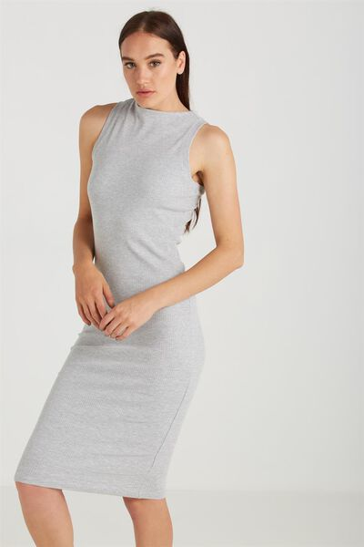 Lola Midi Dress, GREY MARLE
