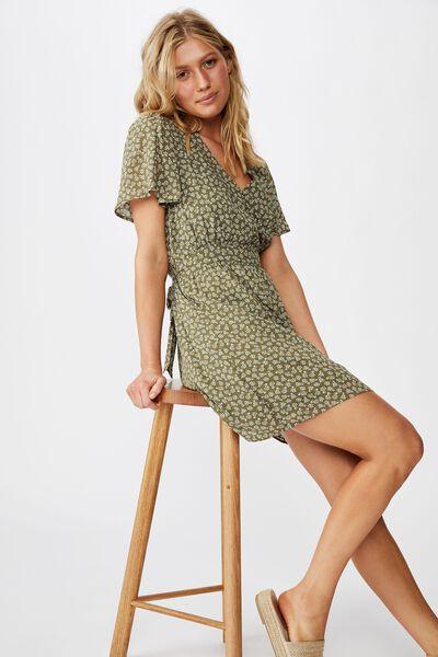 Woven Willow Tea Dress, GEMMA STAR WINTER MOSS