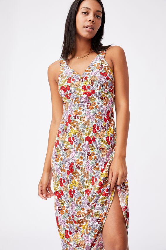 Woven Marcy Strappy Maxi Dress, ELLIE FLORAL MULTI