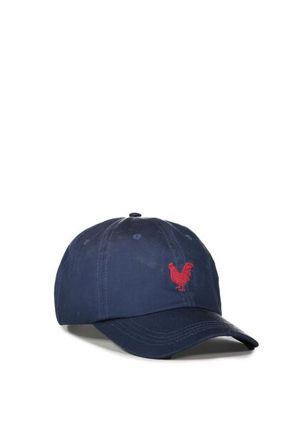 Cny Strap Back Dad Hat, ROOSTER/NAVY