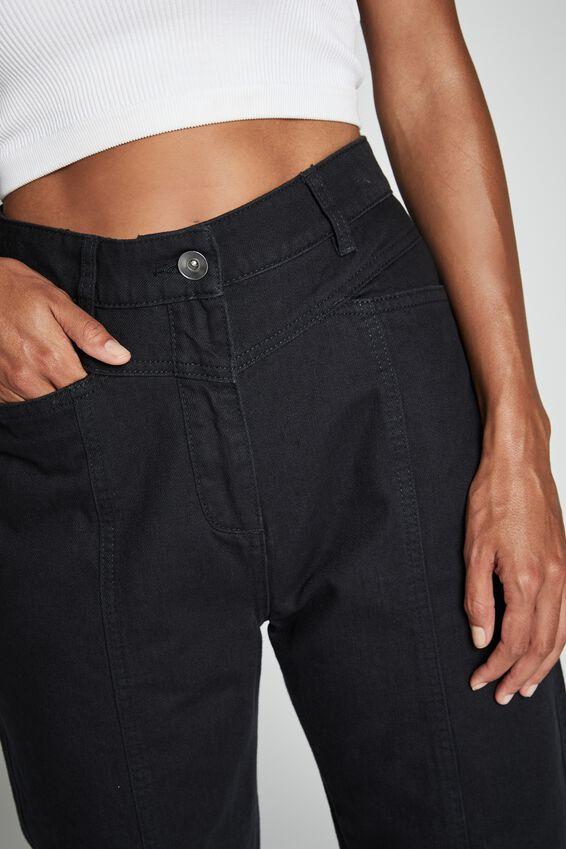 Hailey Front Yoke Pant, WASHED BLACK