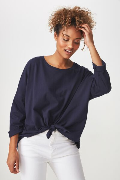 Shelby Oversized Top, MOONLIGHT