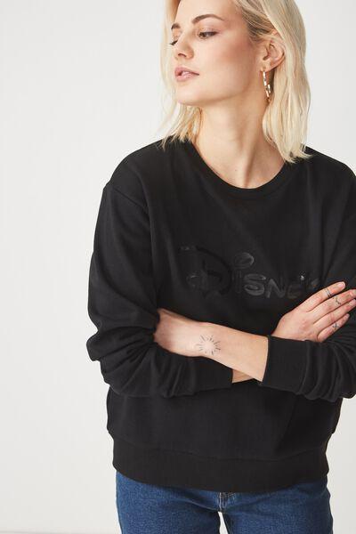 Ferguson Graphic Crew Sweater, LCN DISNEY LOGO/BLACK