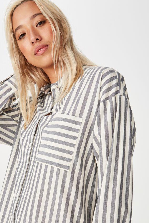 Casual Hudson Shirt, CHLOE STRIPE NAVY