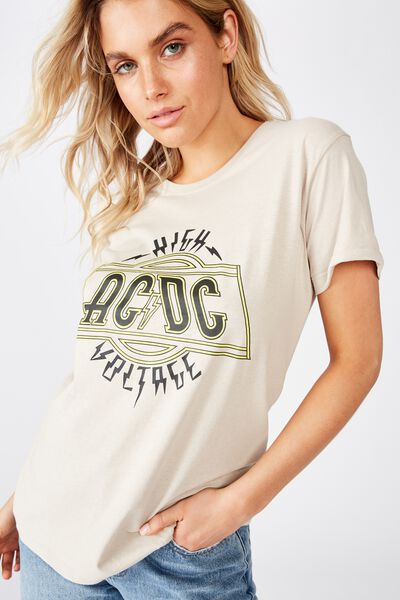 Classic Acdc T Shirt, LCN PER ACDC HIGH VOLTAGE/SILVER GREY