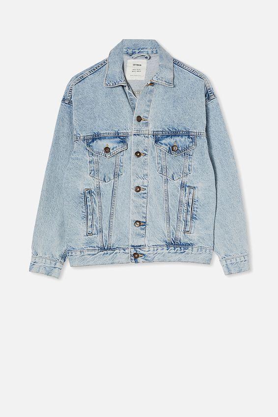 Ultimate Oversized Denim Jacket, AIREYS BLUE