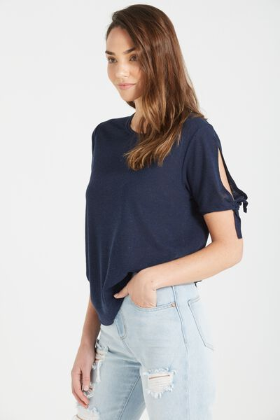 Wendy Cut Out Shoulder Top, MOONLIGHT