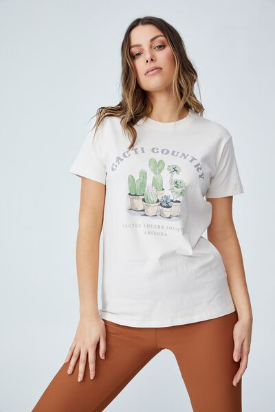 Classic Organic Cotton Graphic T Shirt, CACTI COUNTRY/WHITE SAND