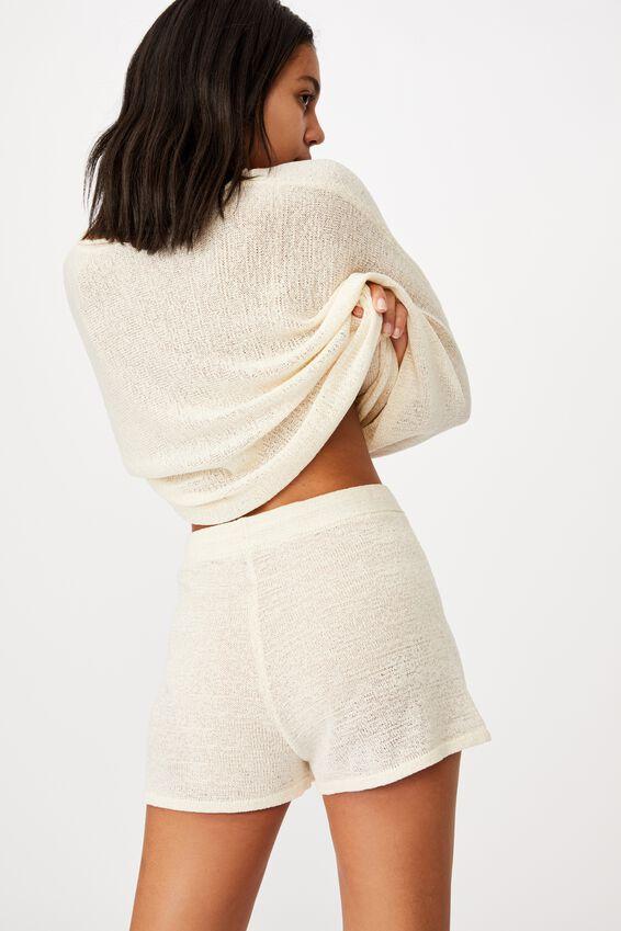 Match Me Knit Short, SEASHELL WHITE