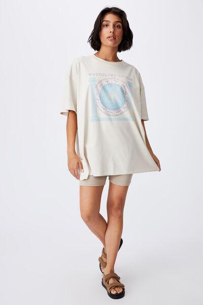 Oversized Graphic T Shirt Dress, MYTHOLOGY LOVERS/STONE