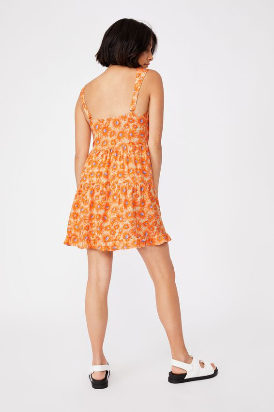 Woven Sandy Skater Dress, JOSIE DAISY SWEET ORANGE