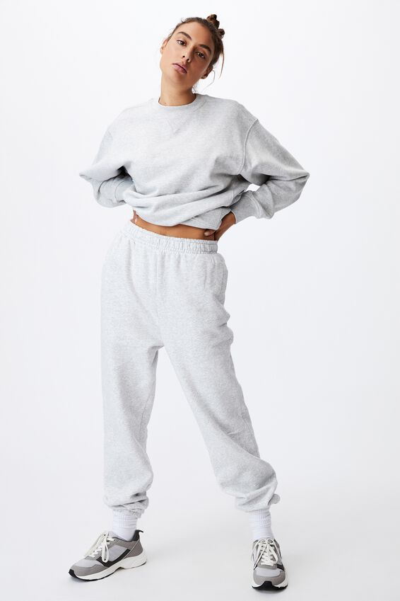 Classic Track Pant, LIGHT GREY MARLE