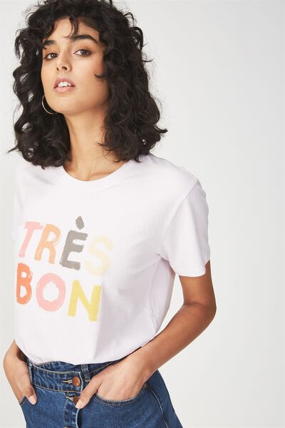 Tbar Fox Graphic T Shirt, TRES BON/LAVENDAR FOG