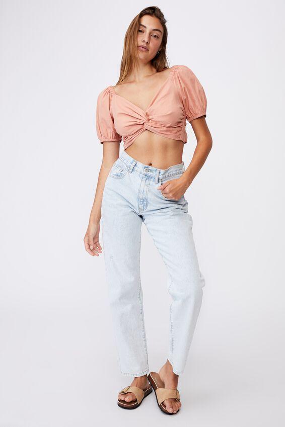 Lola Twist Front Blouse, ROSE CLOUD