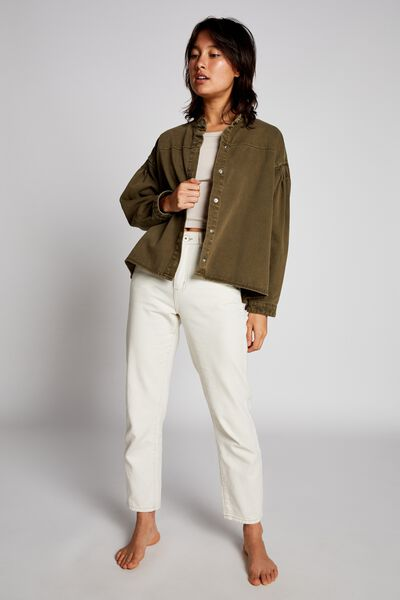Pintuck Utility Bomber, CHINOIS GREEN