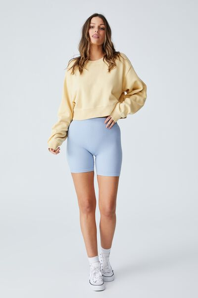Classic Cropped Sweatshirt, VINTAGE YELLOW