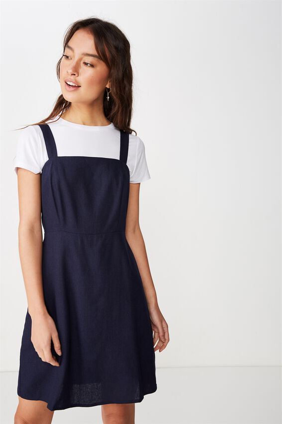 Woven Krissy Dress, NAVY-LWS
