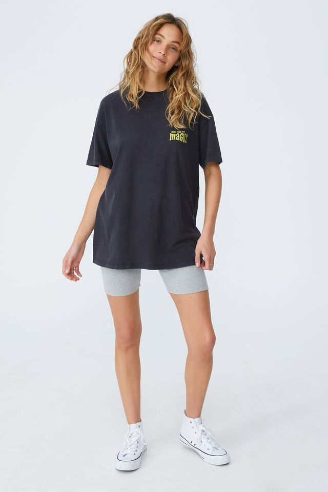 The Relaxed Boyfriend Graphic Tee, MAKE YOUR OWN MAGIC/BLACK